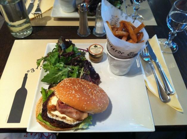 Burger au chèvre Moutarde Café