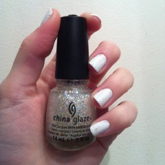 Essie Blanc China glaze snow bowl Swatch