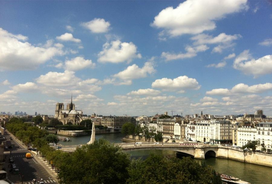 Vue terrasse Institut du monde arabe paris