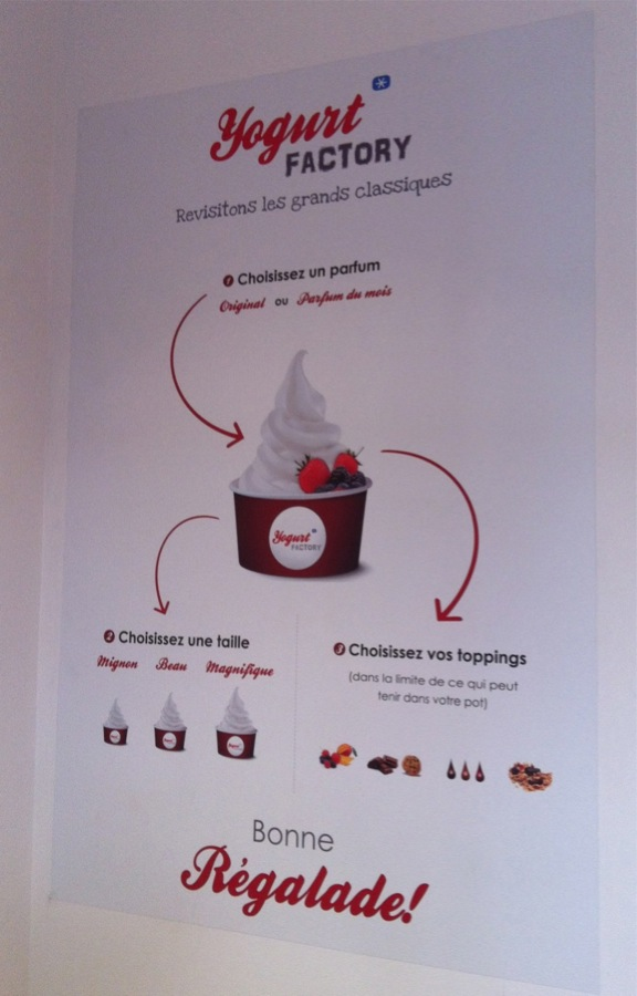 Yogurt Factory concept Paris