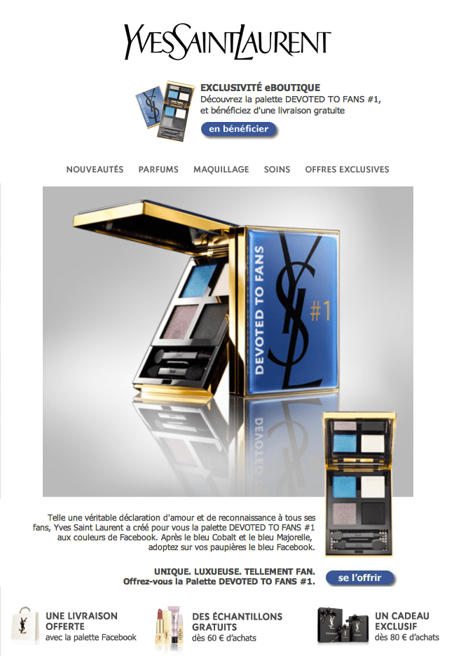 Yves Saint Laurent Lancement Palette Devoted to fans
