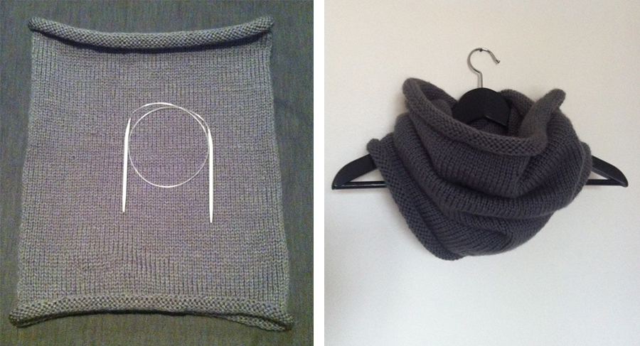 DIY Snood tricot aiguille circulaire