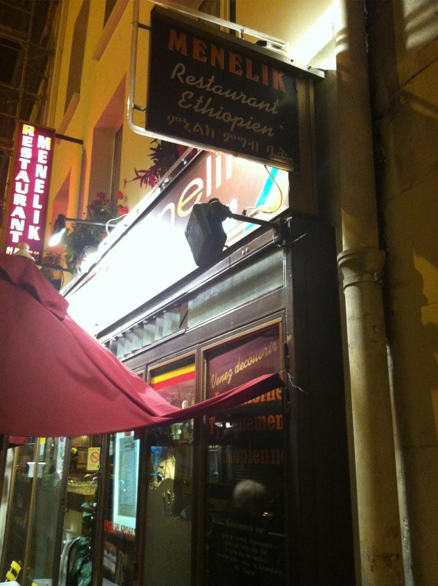 Restaurant ethiopien Menelik Paris