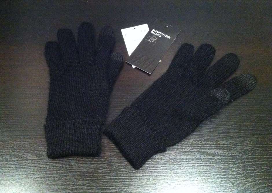 Gants iPhone smatphone h&m