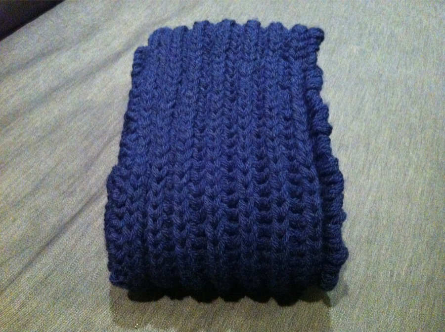 tuto echarpe tricot cotes anglaises rapide