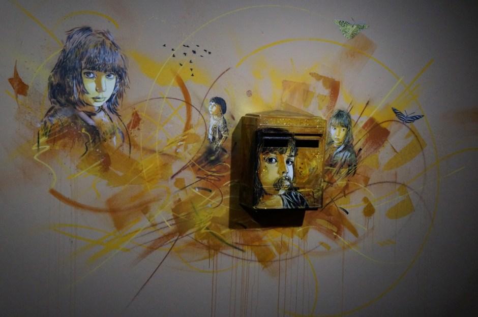 Expo au dela du street art musee poste C215