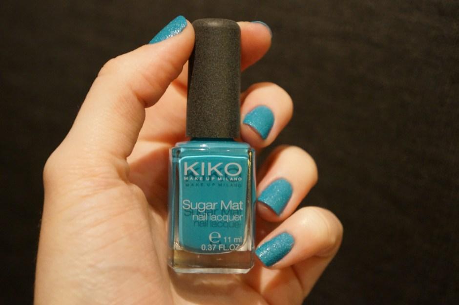 Sugar Mat 637 Turquoise Kiko swatch