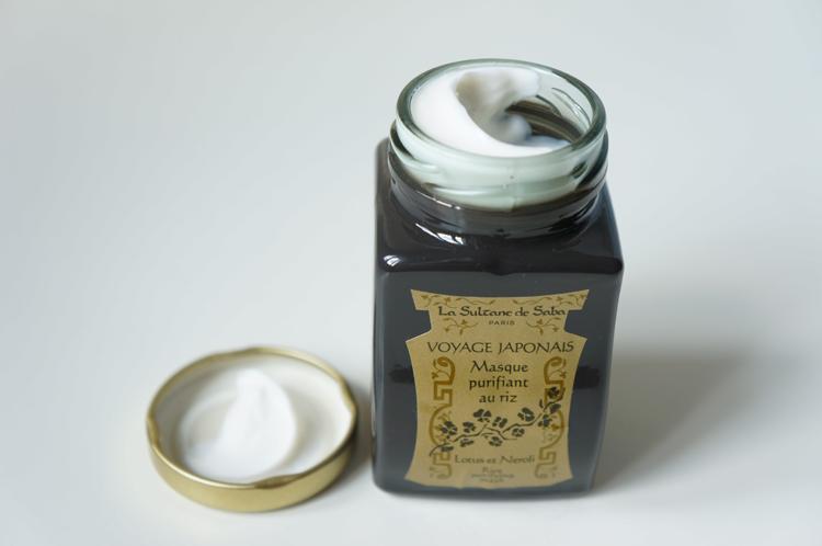 Masque purifiant au riz voyage japonais Sultane de Saba avis test
