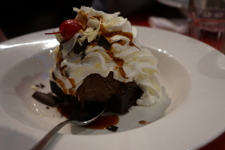 Planet Hollywood Disney Paris avis brownie