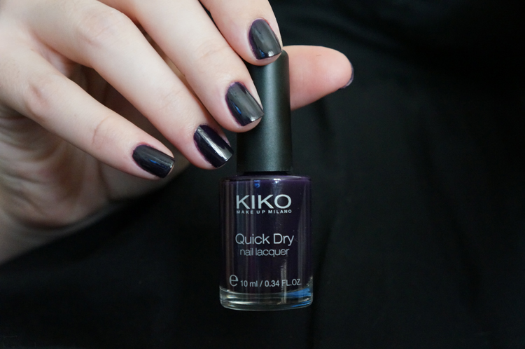 Kiko Quick Dry NailLaquer Vernis avis test swatch n°829 Myrtille