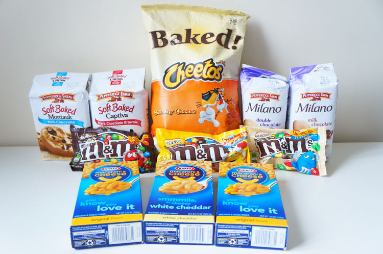 Haul gourmand USA M&M's Cheetos macaroni cheese Kraft Pepperidge Farm