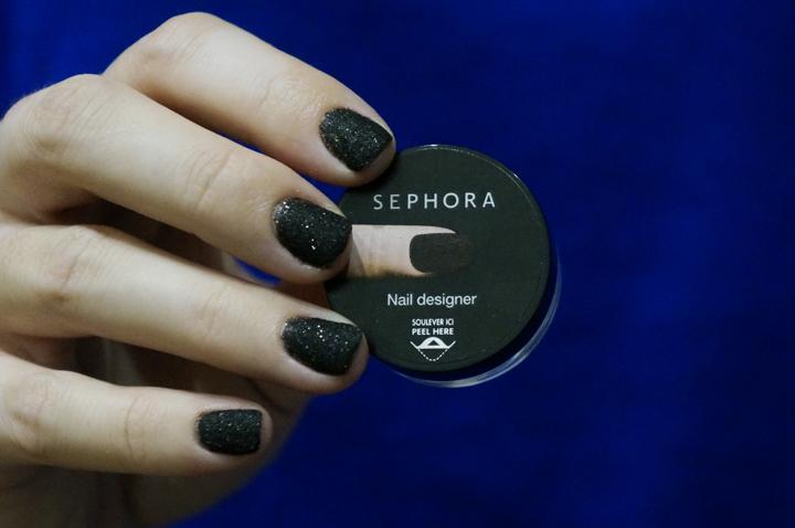 Sephora Nail designer effet 3D manucure swatch Velours noir avis test