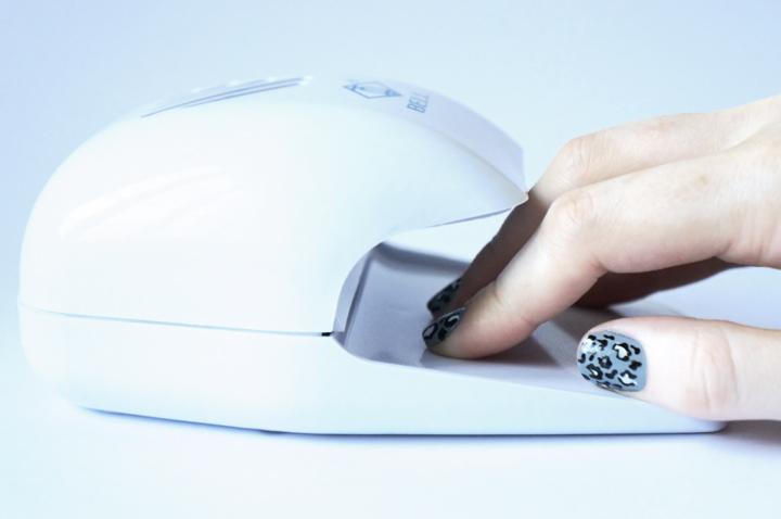 nail dryer - Manucure graou panthère snow léopard