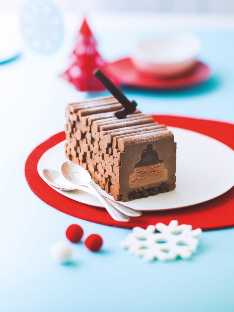 Reveillon gourmand Picard - Bûche au chocolat Michaël Roulier:Picard
