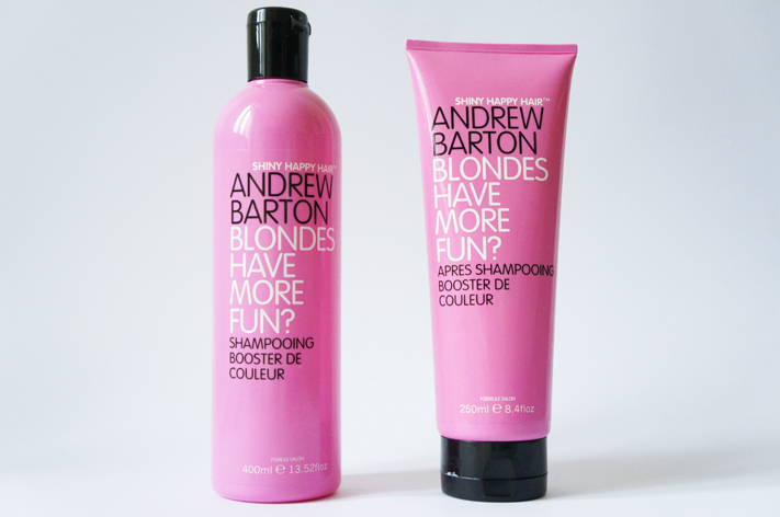 Shampoing Andrew Barton Shinny Happy Hair Booster couleur Blondes have more fun test avis