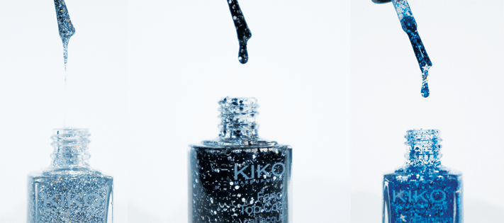 Kiko Fancy Top Coat nailpolish vernis swatch 657 Argento 664 Zaffiro 666 Nero