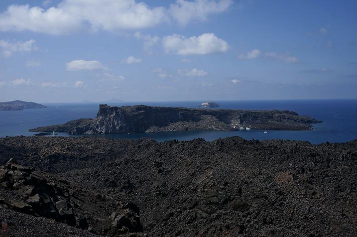 Santorin Santorini Grèce Voyage avis - volcan Nea Kameni