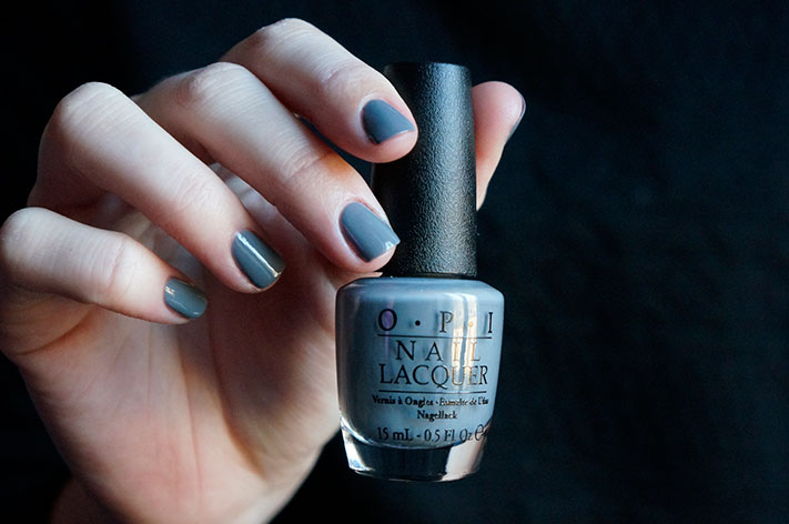 Embrace the Gray - OPI Fifty shades of Grey collection swatch