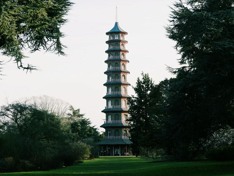 Pagoda Japanese Landscape Kew Garden London Jardin botanique Londres avis visite hiver