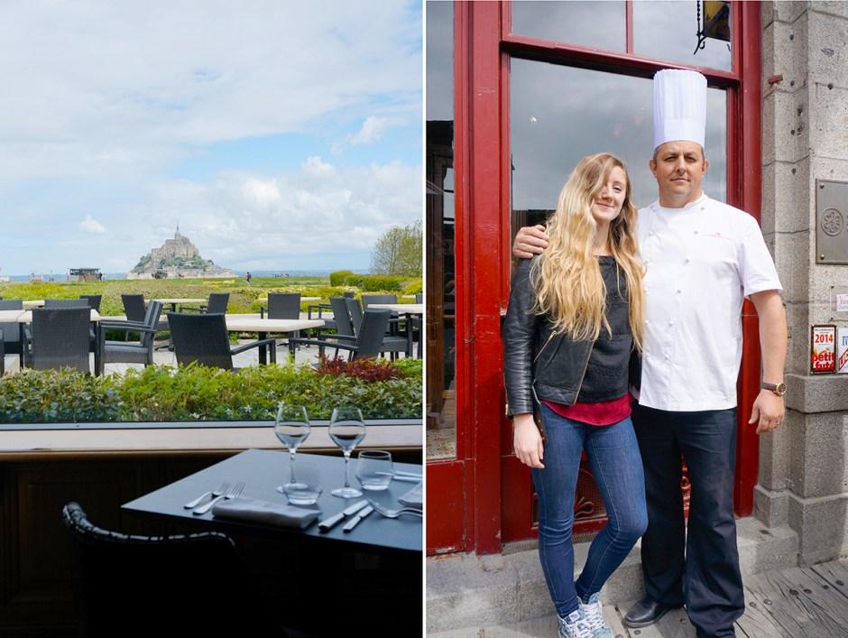 Le Relais Saint-Michel vue Mont Saint Michel grande maree mere poulard avis sejour repas chef cuisinier