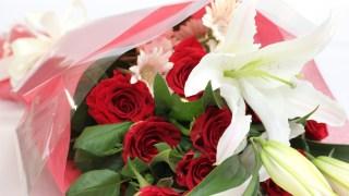 薔薇とユリ
