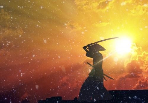 夕日の剣士