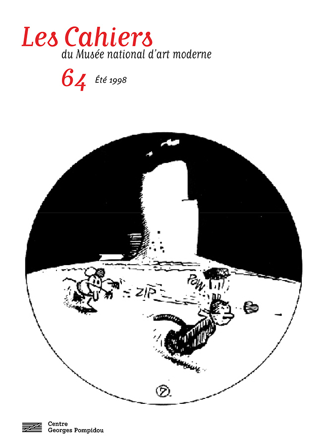 n° 64 des Cahiers du Musée national d'art moderne