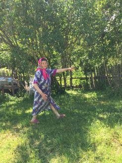 Samke Raisa in her yard