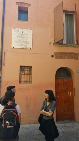 Bologna Synagogue in ghetto