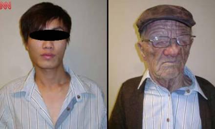 Un joven chino se disfrazó de anciano para viajar en avión y pedir asilo político en Canadá