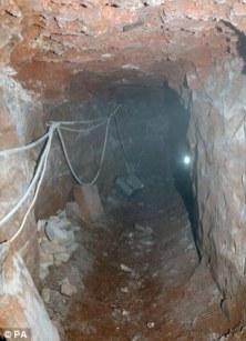 Instalaron iluminación electríca por el túnel