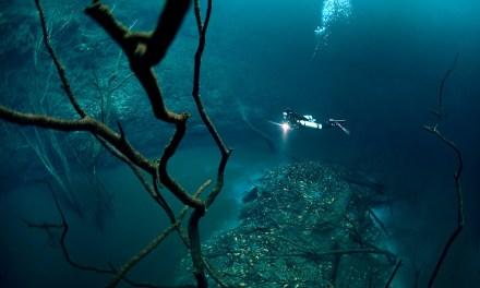 Un río submarino en México