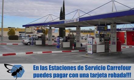 Puedes pagar en las gasolineras Carrefour con una VISA robada