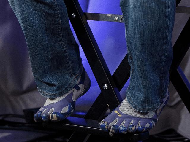 Zapatos de Sergei Brin