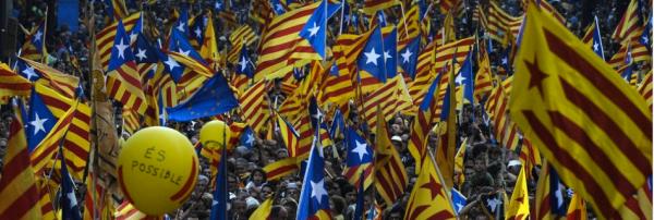 Banderas independentistas en Barcelona durante el 11S - Foto: La Vanguardia