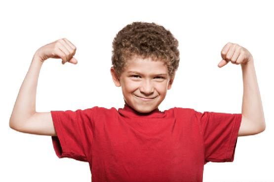 niños fuertes