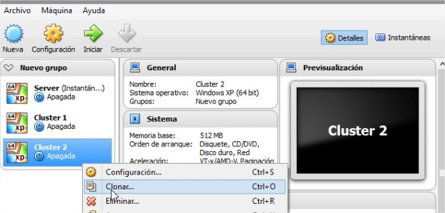 Oracle VM VirtualBox Administrador soy programador