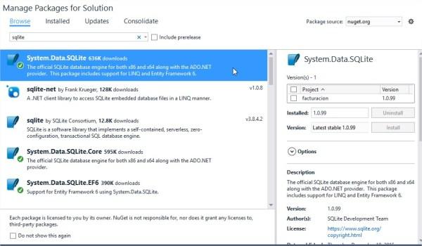 facturacion - Microsoft Visual Studio