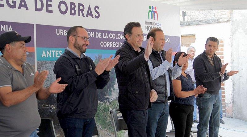 Entrega Mauricio Kuri obras en José María Truchuelo y Bernardo Quintana