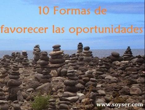 10 Formas de favorecer las oportunidades