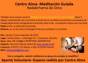 """""""Meditación Guiada de Osho en Centro Alma"""""""