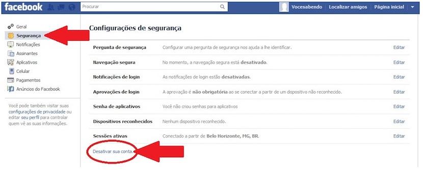 eliminar cuenta en redes sociales Facebook