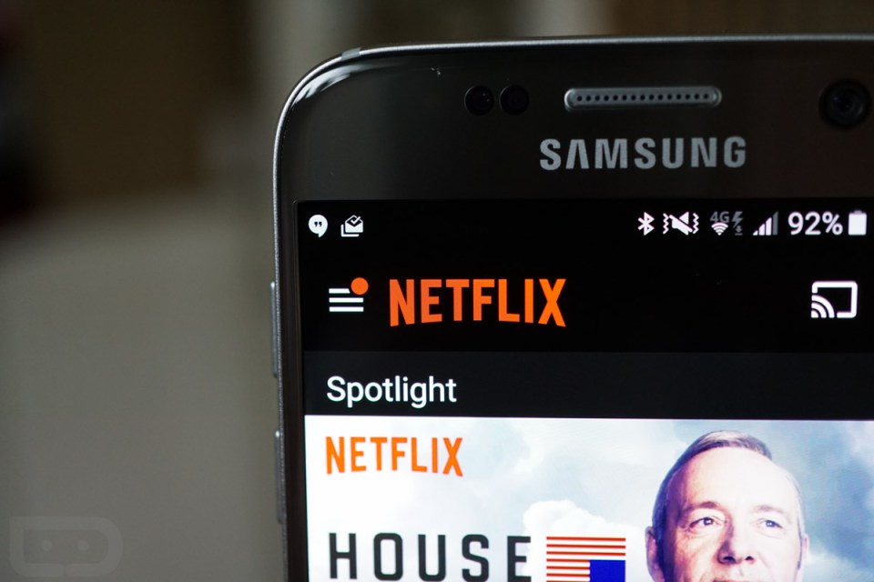netflix android wall