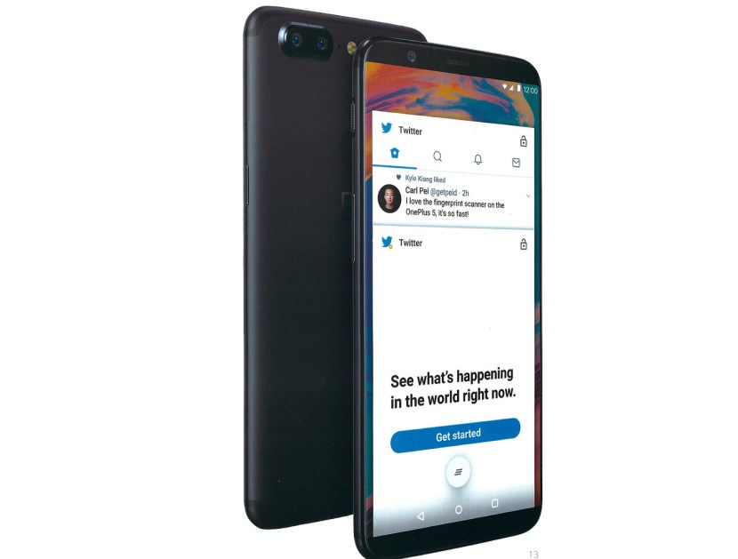 OnePlus 5T pantalla