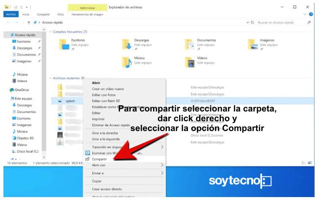 Pasar archivos de PC a PC