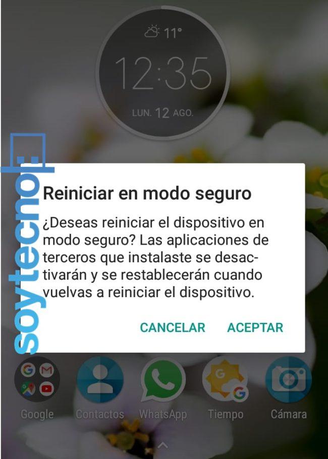 Modo Seguro Android