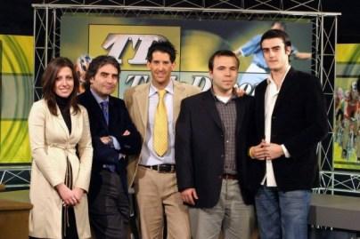 Año 2005. Equipo de deportes de Oviedo TV