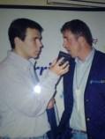 Vuelta de 1997 entrevistando a Perico Delgado para Onda 22