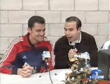 Año 2004. Con Mejuto González en retransmisión Oviedo TV