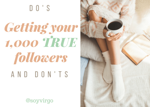 Getting your 1,000 true followers and fans - tips on how to get yours